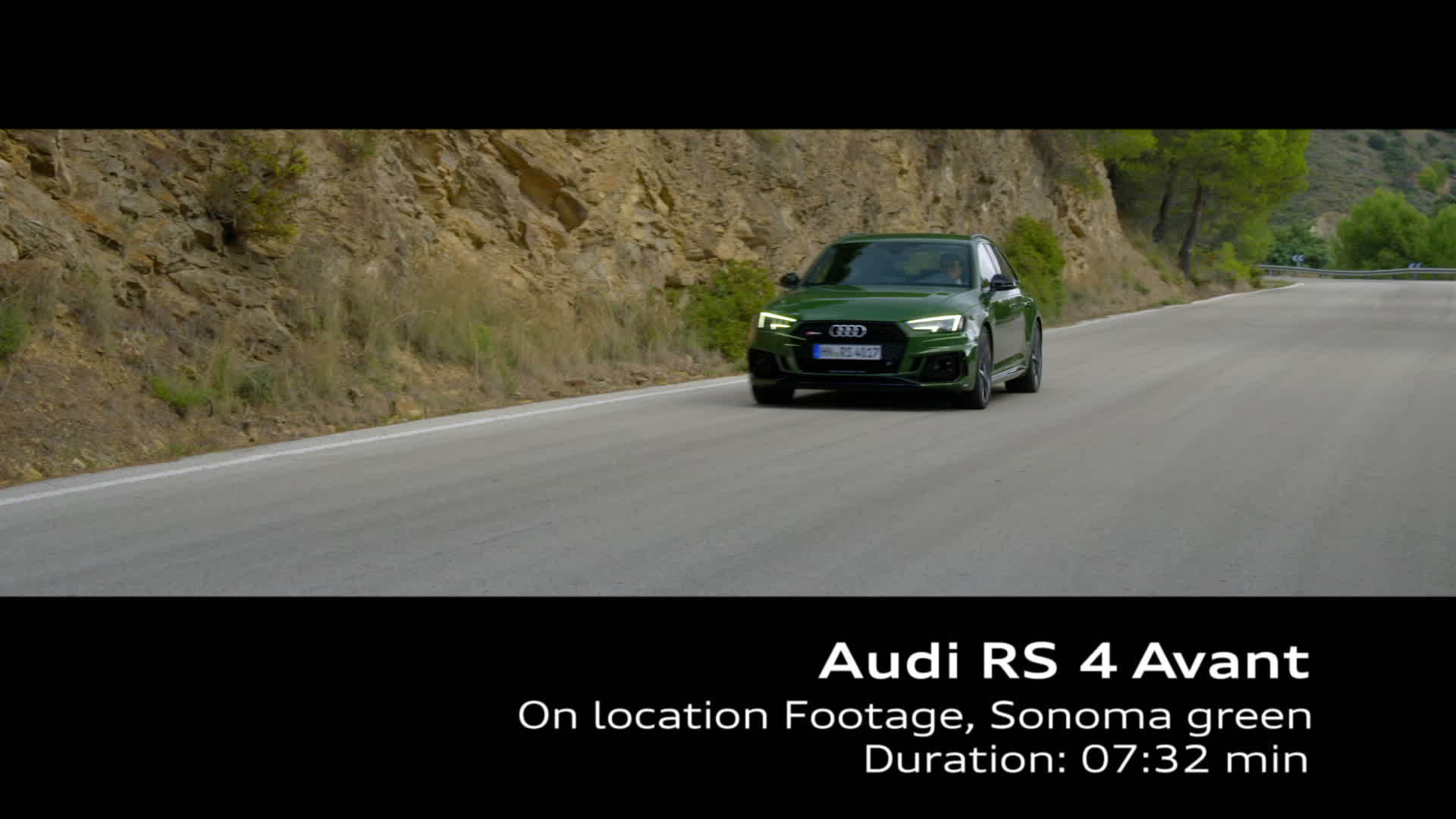 Audi RS 4 (2017) Footage on location - Sonoma Green