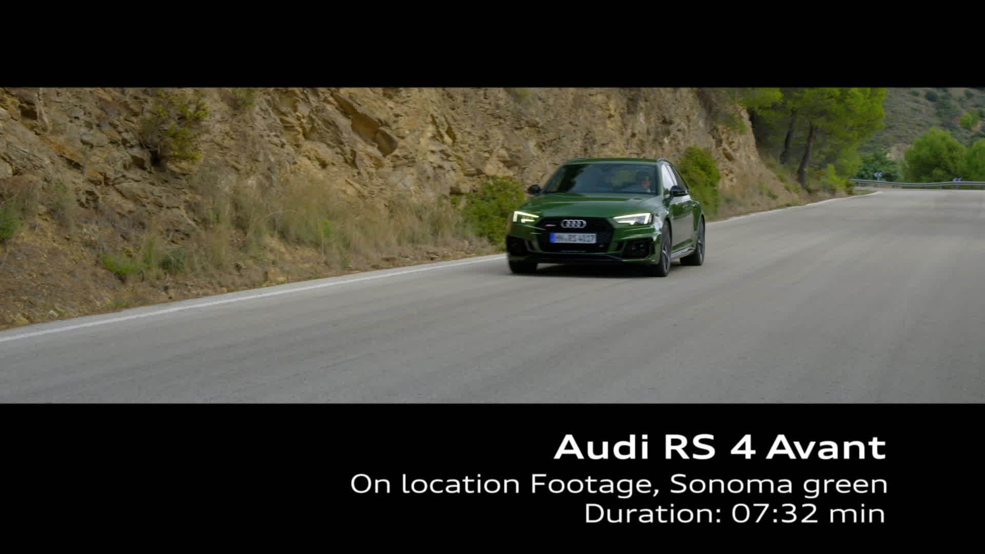 Audi RS 4 (2017) Footage on Location - Sonomagrün