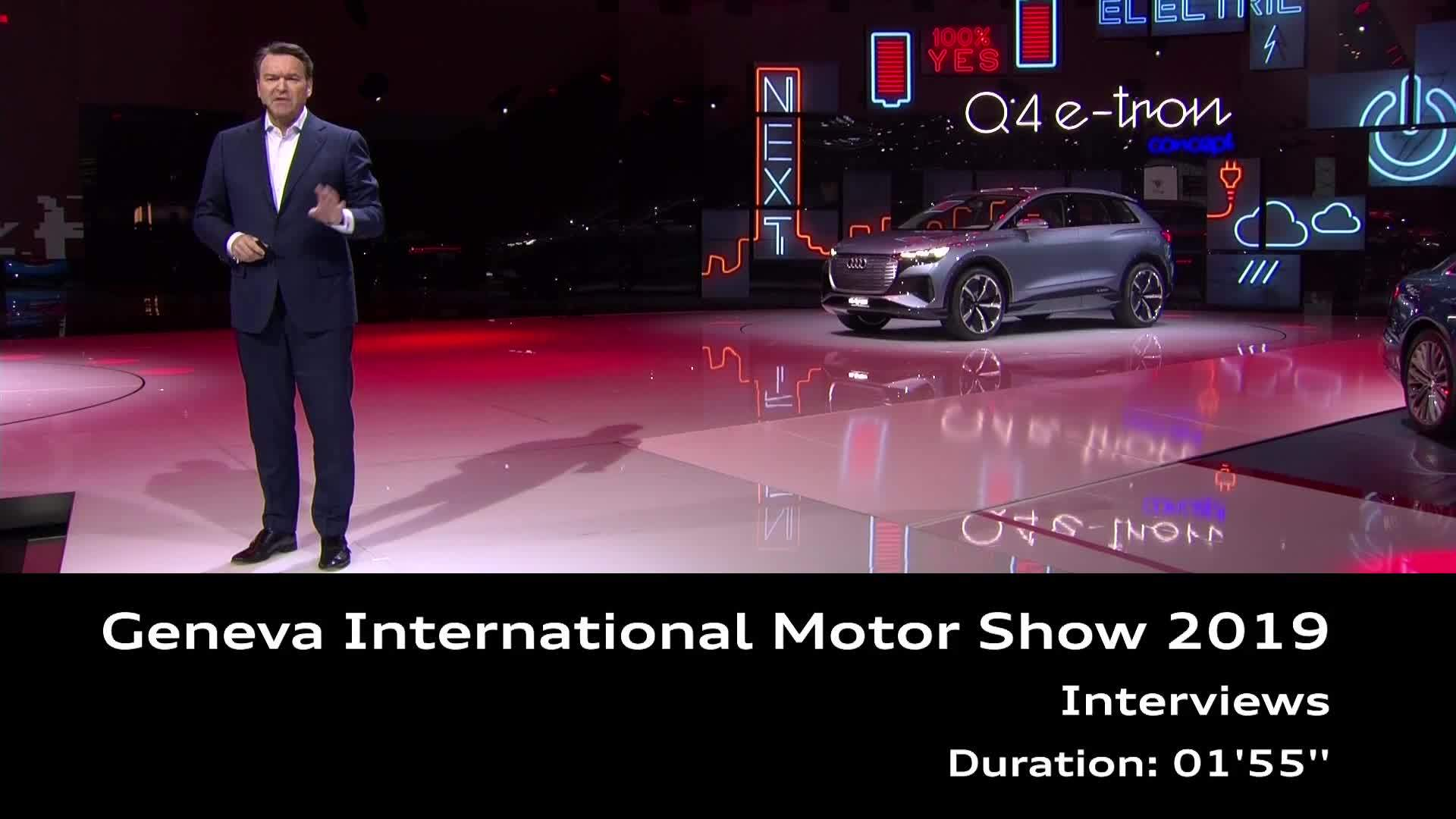 Audi at the 2019 Geneva Motorshow (Interviews)