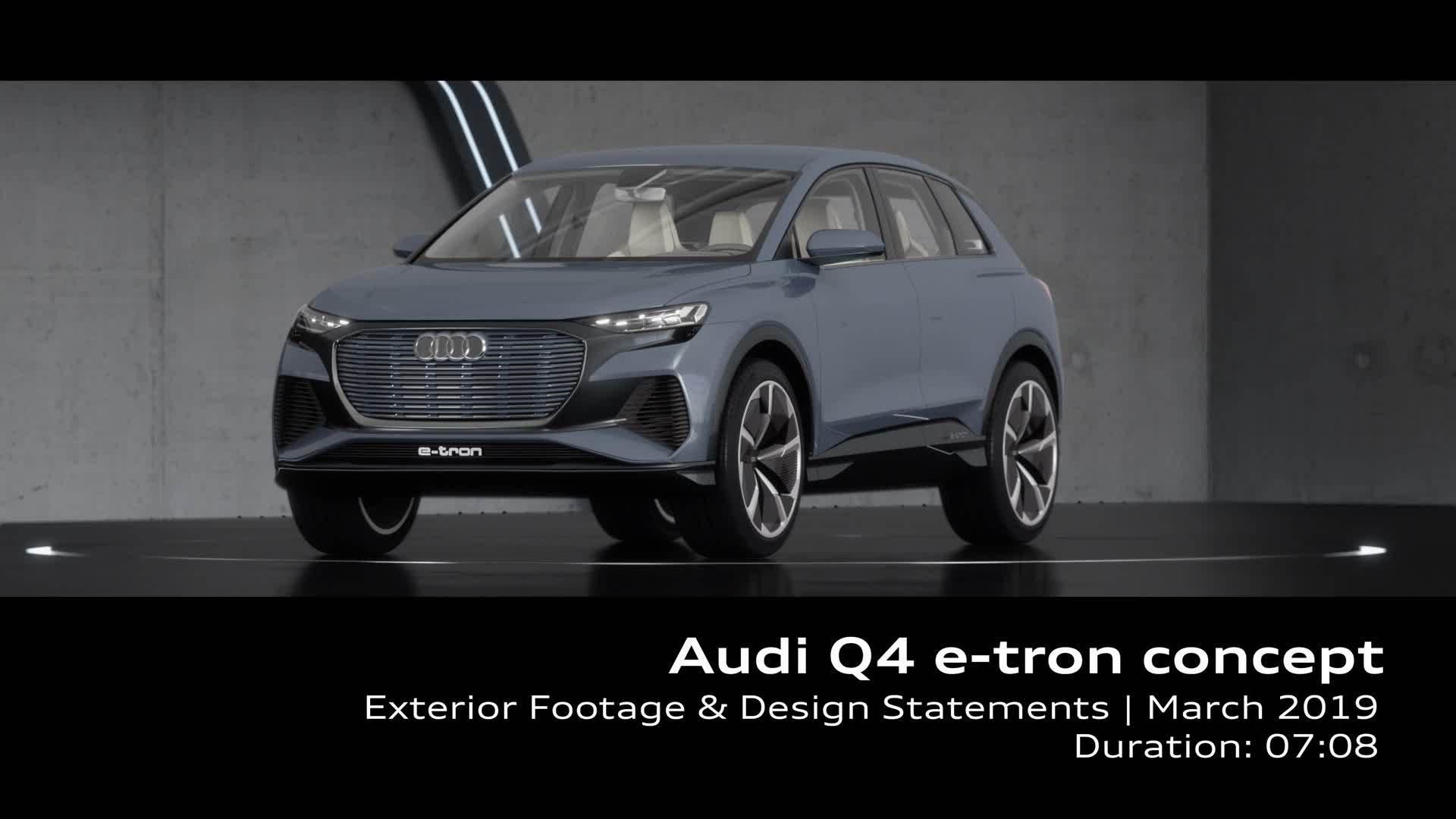 Audi Q4 e-tron concept (Footage)
