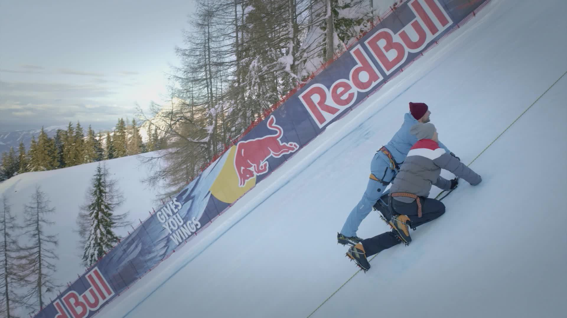 "Making of: Audi e-tron technology demonstrator climbs ski slope ""Mausefalle"""