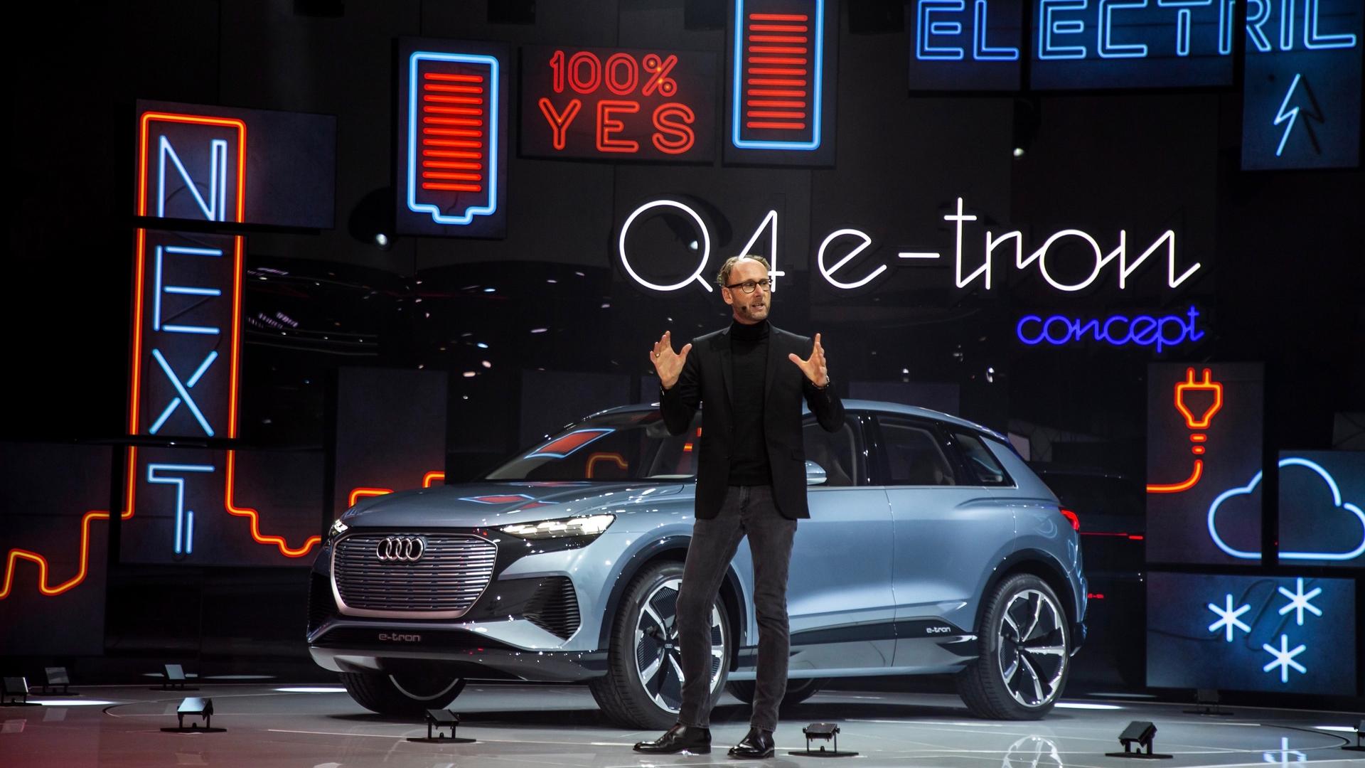 Audi Pressekonferenz auf Genfer Autosalon 2019
