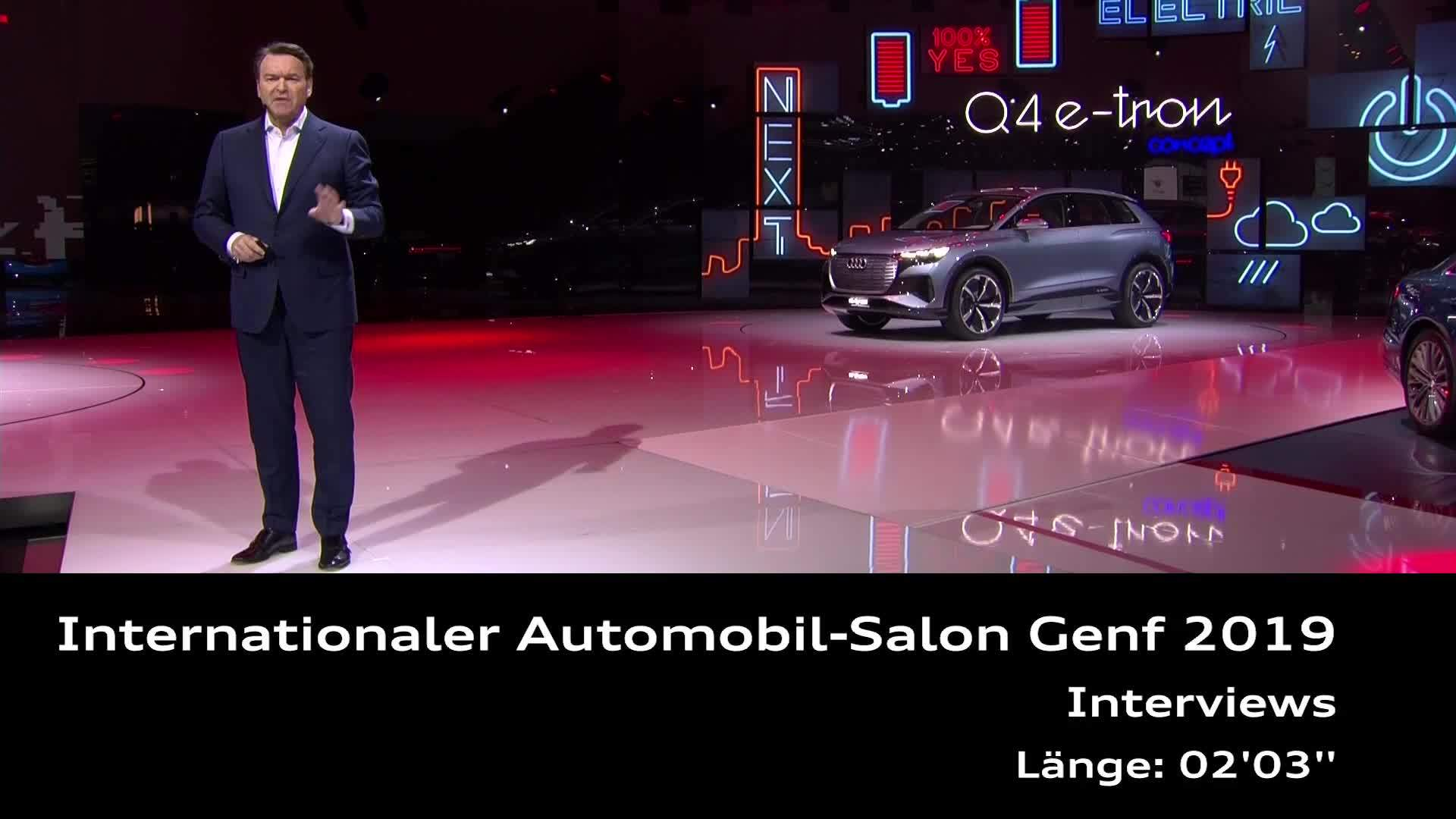 Audi auf dem Genfer Autosalon 2019 (Interviews)