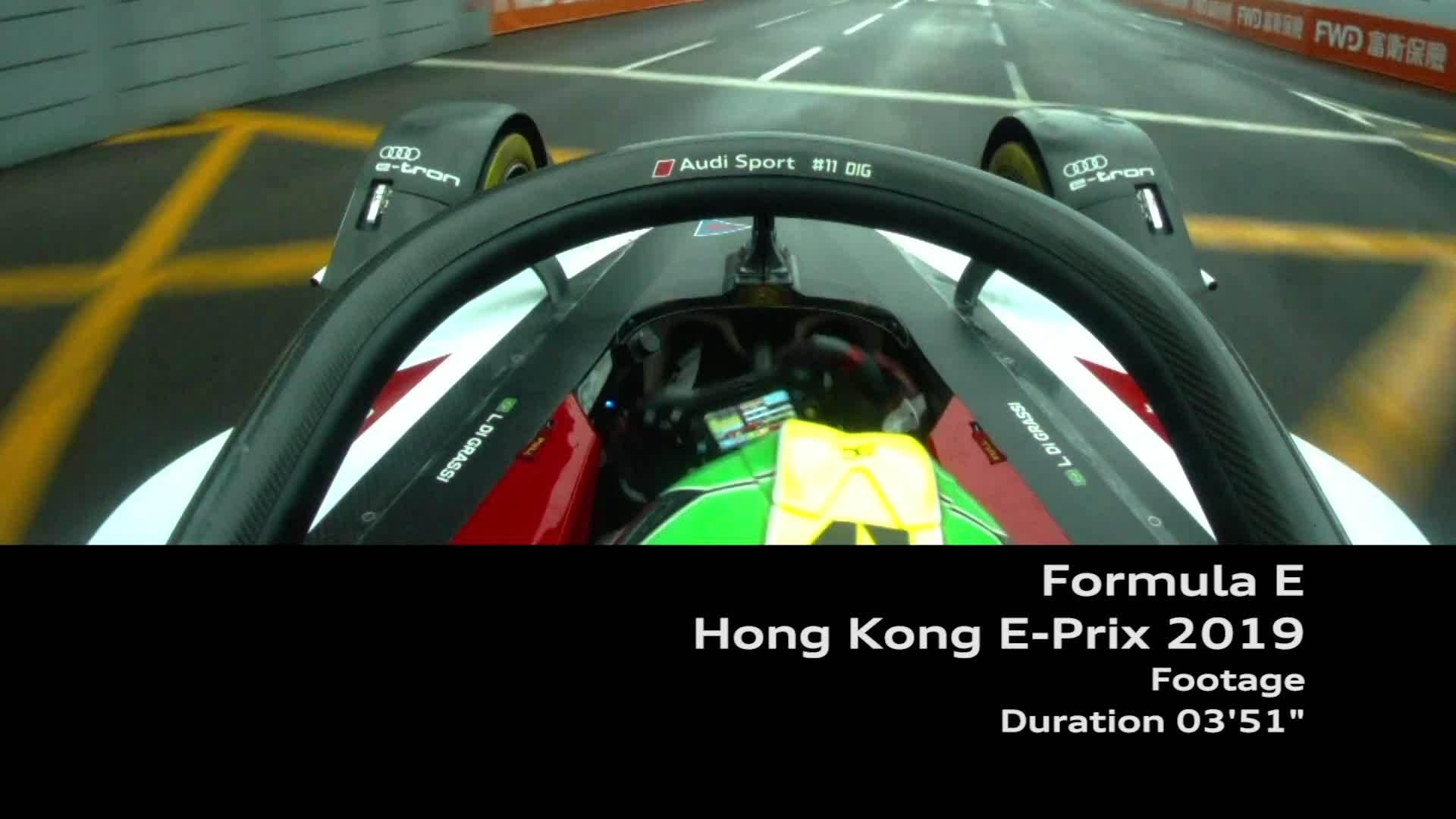 Footage Formel E Hongkong E-Prix 2019