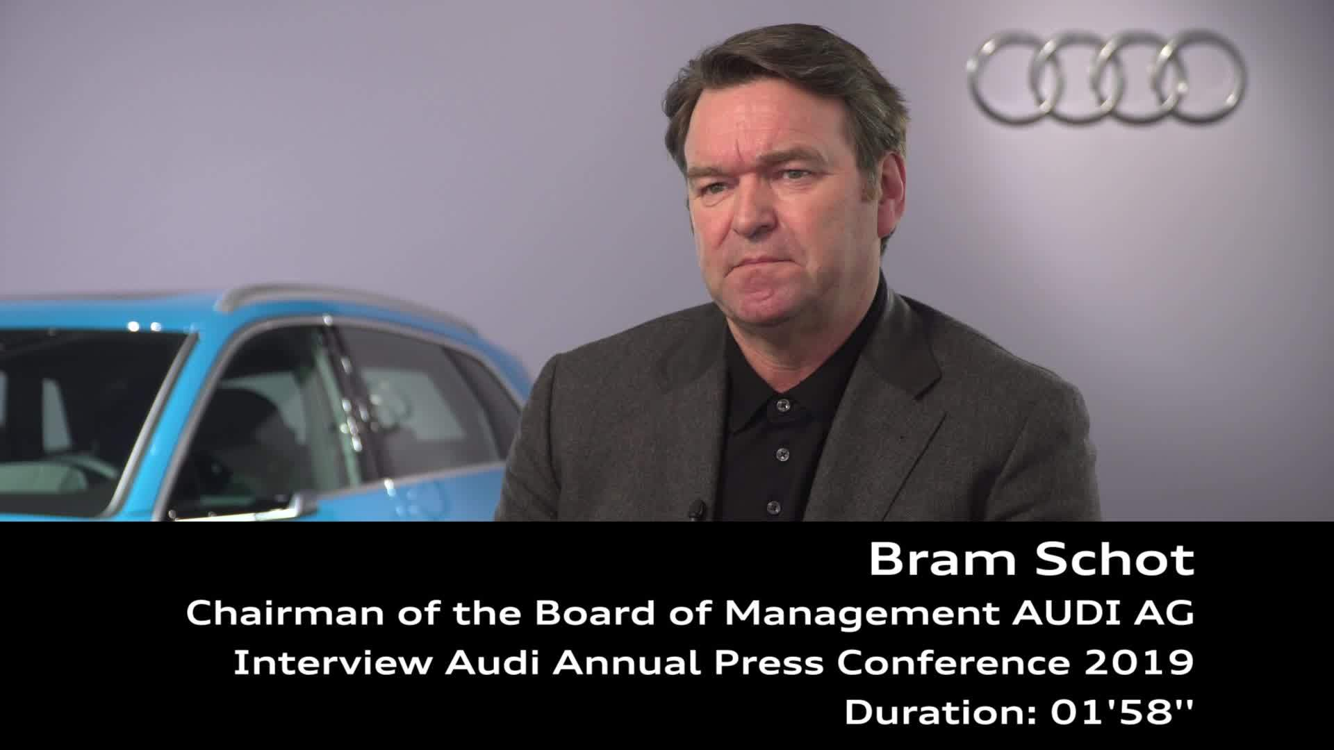 Audi Annual Press Conference 2019 Interview Bram Schot