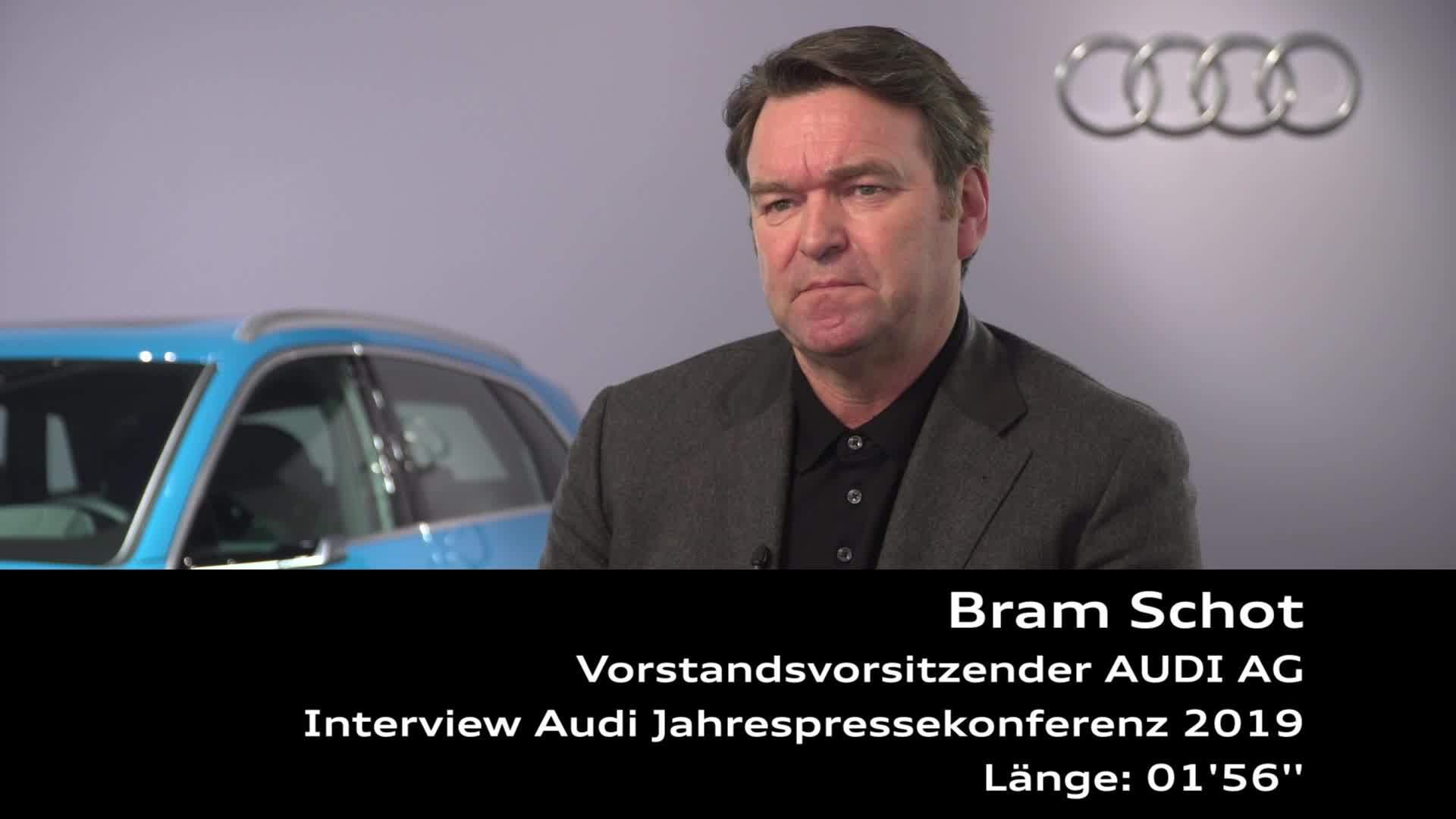 Audi Jahrespressekonferenz 2019 Interview Bram Schot