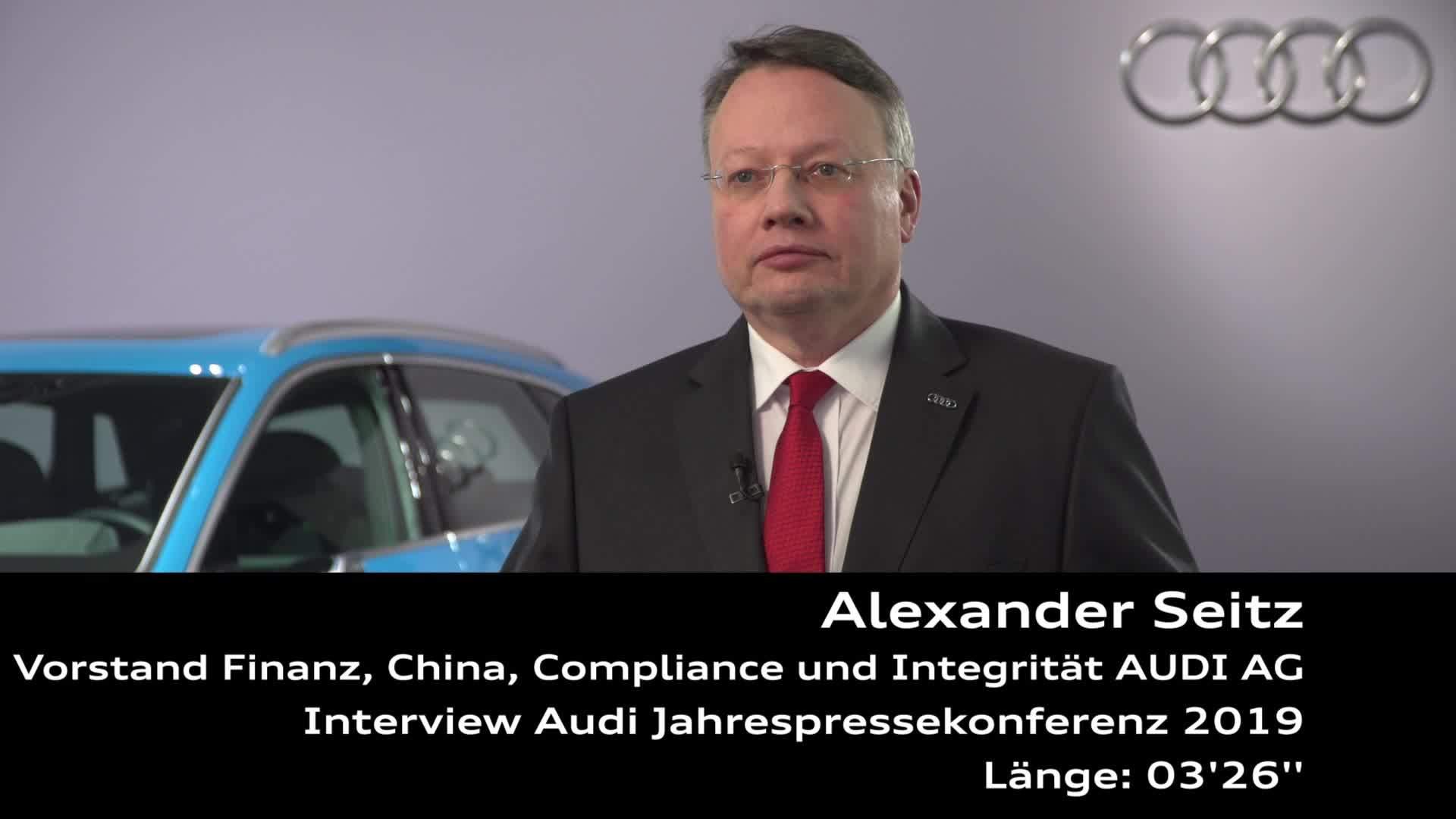 Audi Jahrespressekonferenz 2019 Interview Alexander Seitz