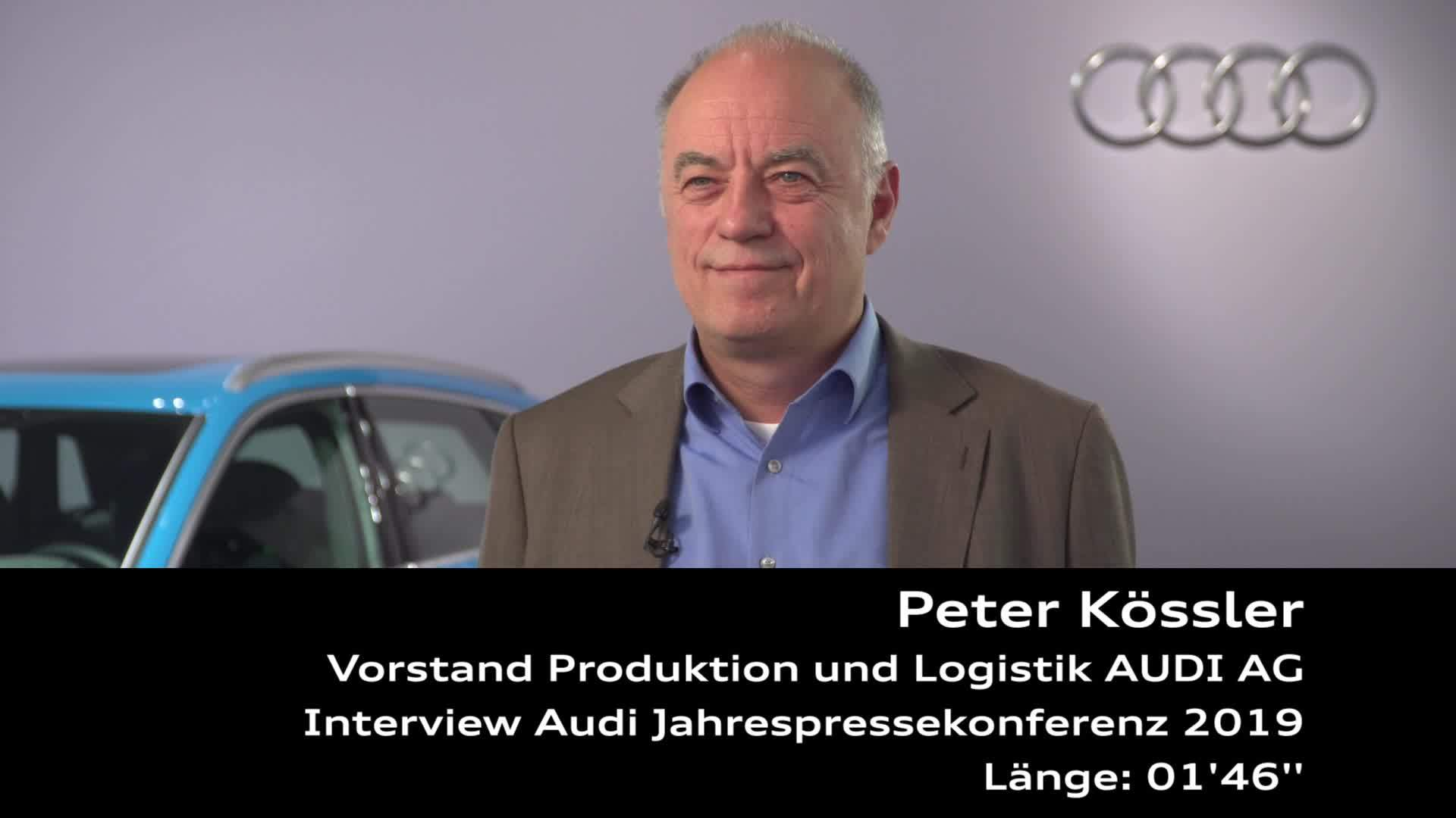 Audi Jahrespressekonferenz 2019 Interview Peter Kössler