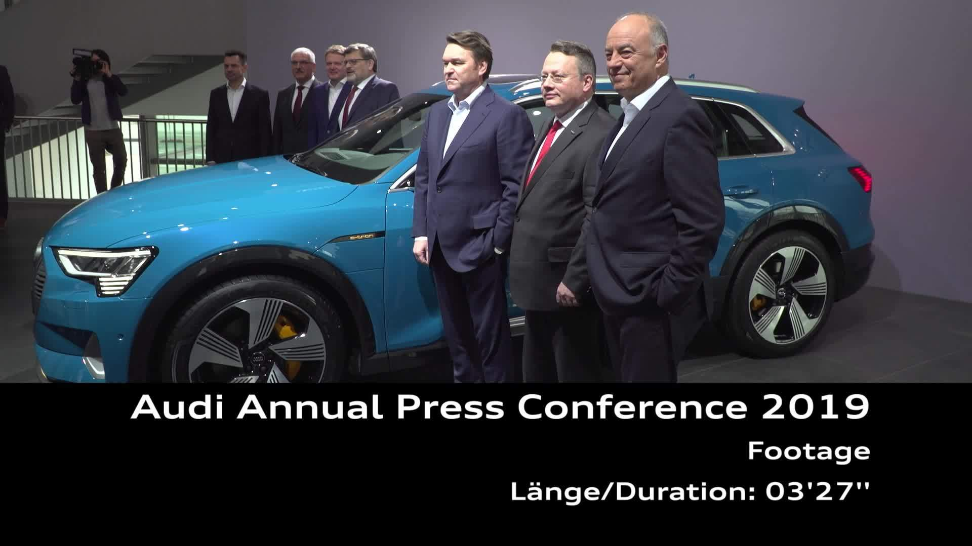 On Location Footage Audi Annual Press Conference 2019