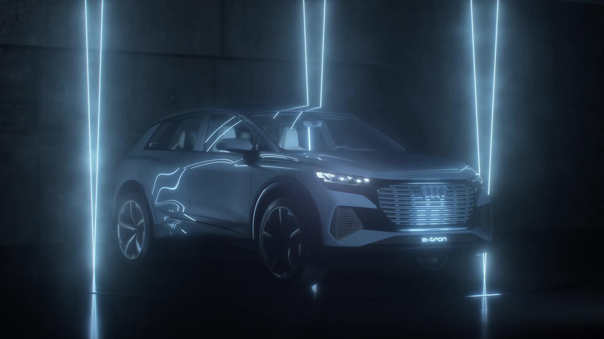Der Audi Q4 e-tron concept (Trailer)