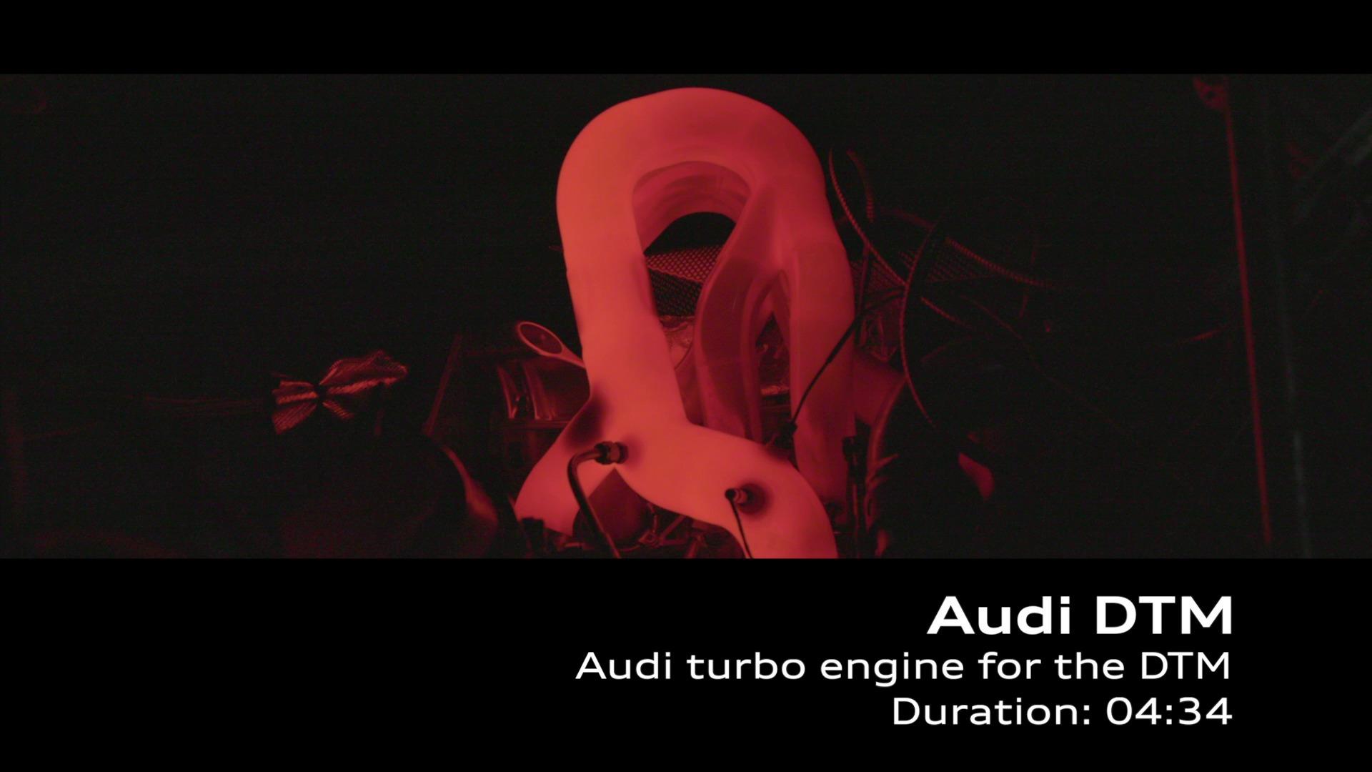 Footage: Der neue Audi-Turbomotor für die DTM