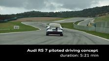 Der Audi RS 7 piloted driving concept auf der Rennstrecke