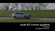 Der Audi Q7 e-tron 3.0 TDI quattro - Footage