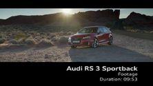Der Audi RS 3 Sportback - Footage Wüste